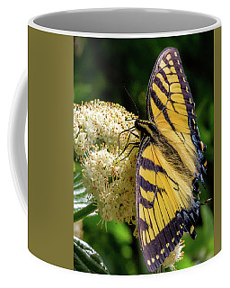 Coffee Mug featuring the photograph Fuzzy Butterfly by Lora J Wilson