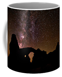 Coffee Mug featuring the photograph Galactic Turret Arch by Andy Crawford