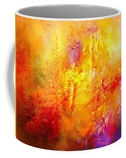 Coffee Mug featuring the painting Galaxy Afire by VIVA Anderson
