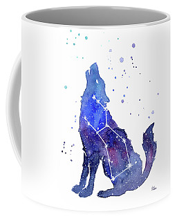 Galaxy Wolf - Lupus Constellation Coffee Mug