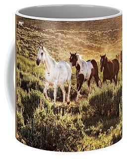 Galloping Down The Mountain Coffee Mug