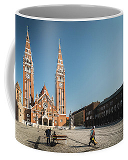 Garbage Cleaners On Dom Square In Szeged  Coffee Mug