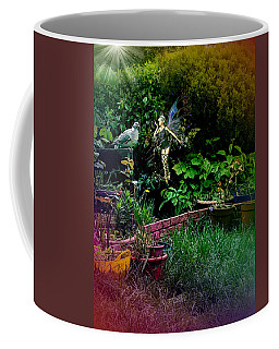 Coffee Mug featuring the digital art Garden Fairy Fantasy by Robert G Kernodle