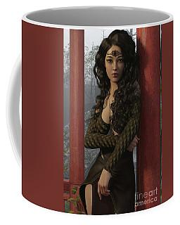 Garden Reflection Portrait Coffee Mug