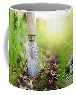 Gardening Shovel In An Orchard During The Gardener's Rest Coffee Mug