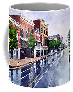 Gaslights And Afternoon Rain Coffee Mug