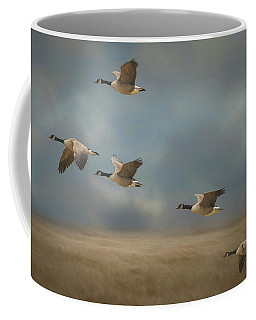 Geese, Coming In For A Landing Coffee Mug