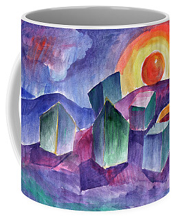 Coffee Mug featuring the painting Geometric Landscape by Dobrotsvet Art