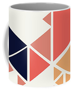 Coffee Mug featuring the painting Geometric Painting 1 by Arttantra