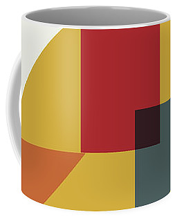 Coffee Mug featuring the painting Geometric Painting 13 by Arttantra