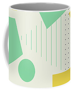 Coffee Mug featuring the painting Geometric Painting 7  by Arttantra