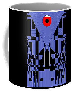 Geometric Red Dot  Coffee Mug