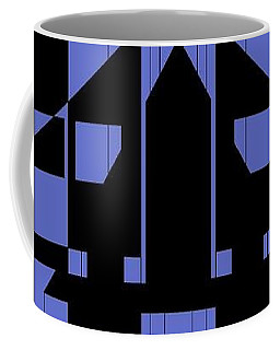 Coffee Mug featuring the painting Geometric Red Dot  by Arttantra