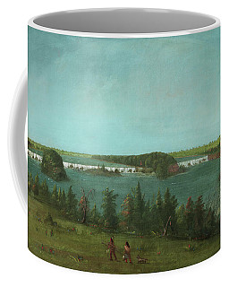 George Catlin -wilkes-barre, 1796-jersey City, 1872-. The Falls Of Saint Anthony -1871-. Oil On C... Coffee Mug