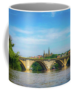 Coffee Mug featuring the photograph Georgetown From The Potomac by Lora J Wilson