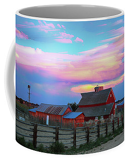 Coffee Mug featuring the photograph Ghost Horses Pastel Sky Timed Stack by James BO Insogna