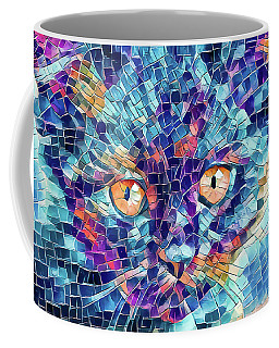 Coffee Mug featuring the digital art Giant Head Mosaic Colorful by Don Northup