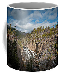 Coffee Mug featuring the photograph Gibbon Falls In Yellowstone by Mark Duehmig