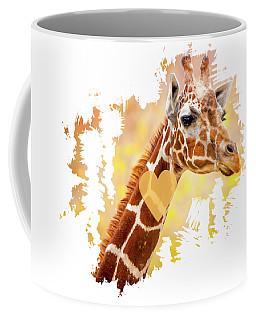 Coffee Mug featuring the photograph Giraffe, Animal Decor, Nursery Decor,  by David Millenheft