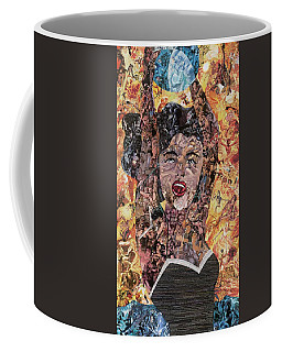 Girl With Ball After Lichtenstein Coffee Mug
