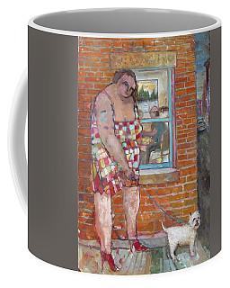 Girl With Little Dog Coffee Mug