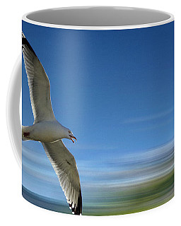 Coffee Mug featuring the photograph Gull Flight #192 by Edmund Nagele