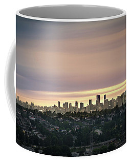 Gloden Sky On Vancouver Coffee Mug