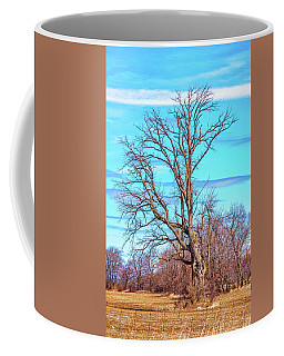 Gnarled Tree And Marbled Sky Coffee Mug