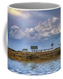 Coffee Mug featuring the photograph Goat Island Lighthouse by Rick Berk