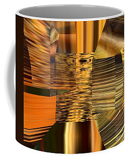Coffee Mug featuring the digital art Gold  by A z Mami
