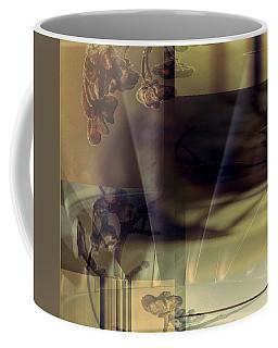 Gold Brown Tan Abstract Coffee Mug