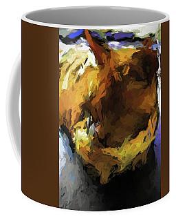 Gold Cat And The Shadow Coffee Mug