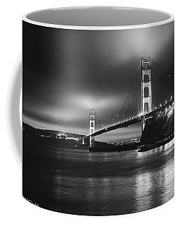 Golden Gate Bridge B/w Coffee Mug