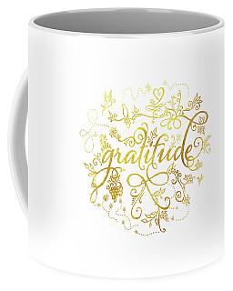 Golden Gratitude Coffee Mug