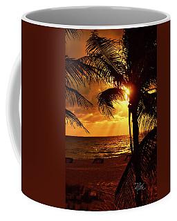 Golden Palm Sunrise Coffee Mug