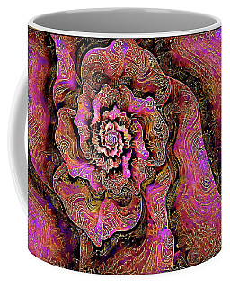 Coffee Mug featuring the digital art Golden Rose by Missy Gainer