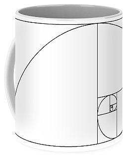 Golden Spiral Coffee Mug