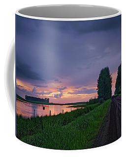 Golden Sunset Near Westlock Coffee Mug