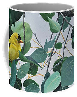 Goldfinch And Aspen Coffee Mug