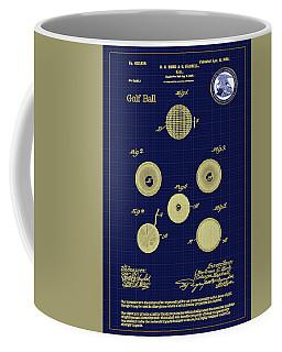 Golf Ball Patent Drawing 1899 Coffee Mug