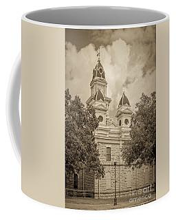 Goliad Courthouse In Sepia Coffee Mug