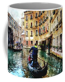 Gondola Traffic Near Piazza San Marco In Venice Coffee Mug