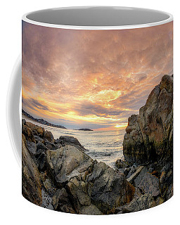 Coffee Mug featuring the photograph Good Harbor Rock View 1 by Michael Hubley