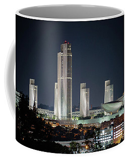 Coffee Mug featuring the photograph Goodnight Albany by Brad Wenskoski