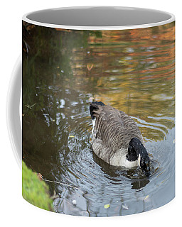 Coffee Mug featuring the photograph Goose Head In Water by Scott Lyons