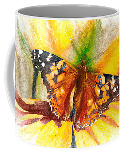 Gorgeous Painted Lady Butterfly Coffee Mug