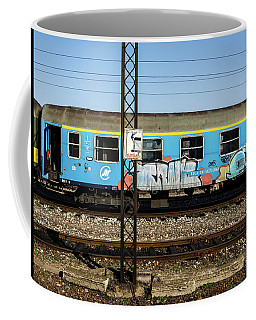 Graffitied Train Coffee Mug