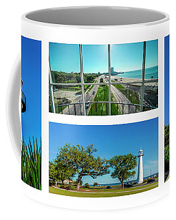 Grand Old Lighthouse Biloxi Ms Collage A1a Coffee Mug