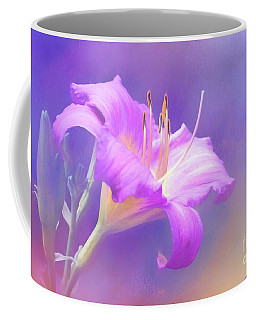 Pretty In Pastel Little Grapette Daylily Coffee Mug