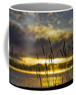 Grassy Shoreline Sunrise Coffee Mug